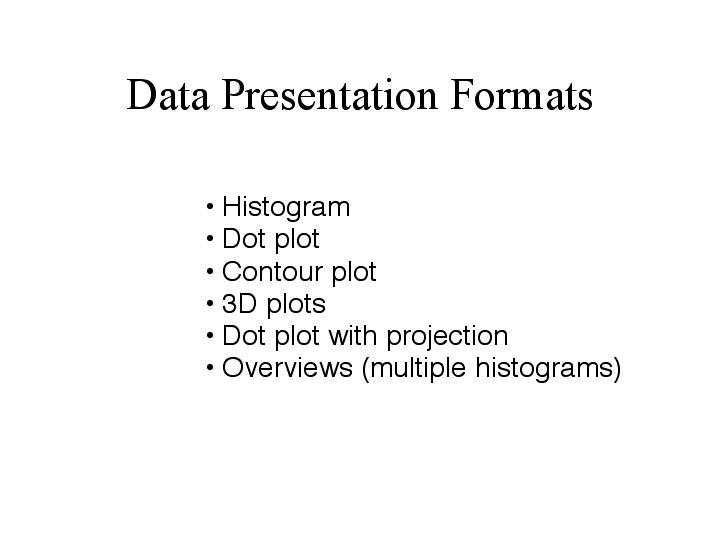 data presentation formats